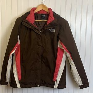 North Face 2 in one hooded coat